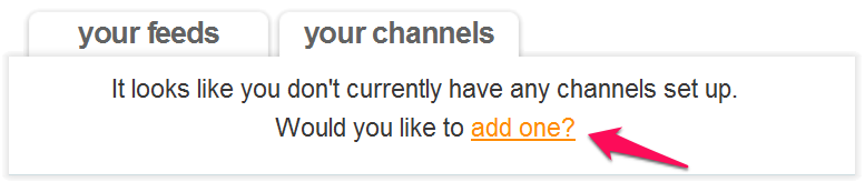 add a channel to feed rinse