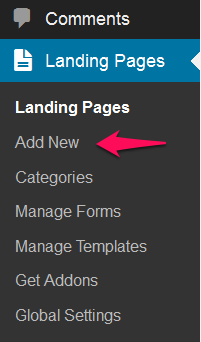 Add a new landing page
