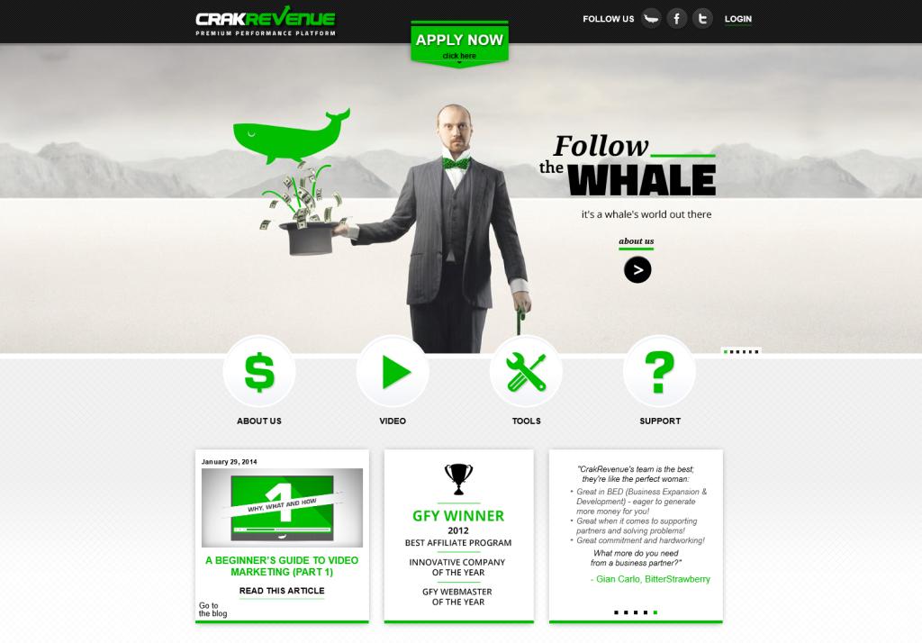 CrakRevenue's Website
