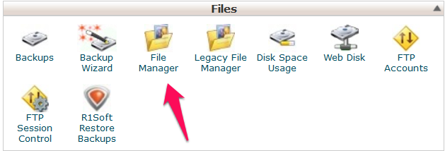 File Manager arvixe