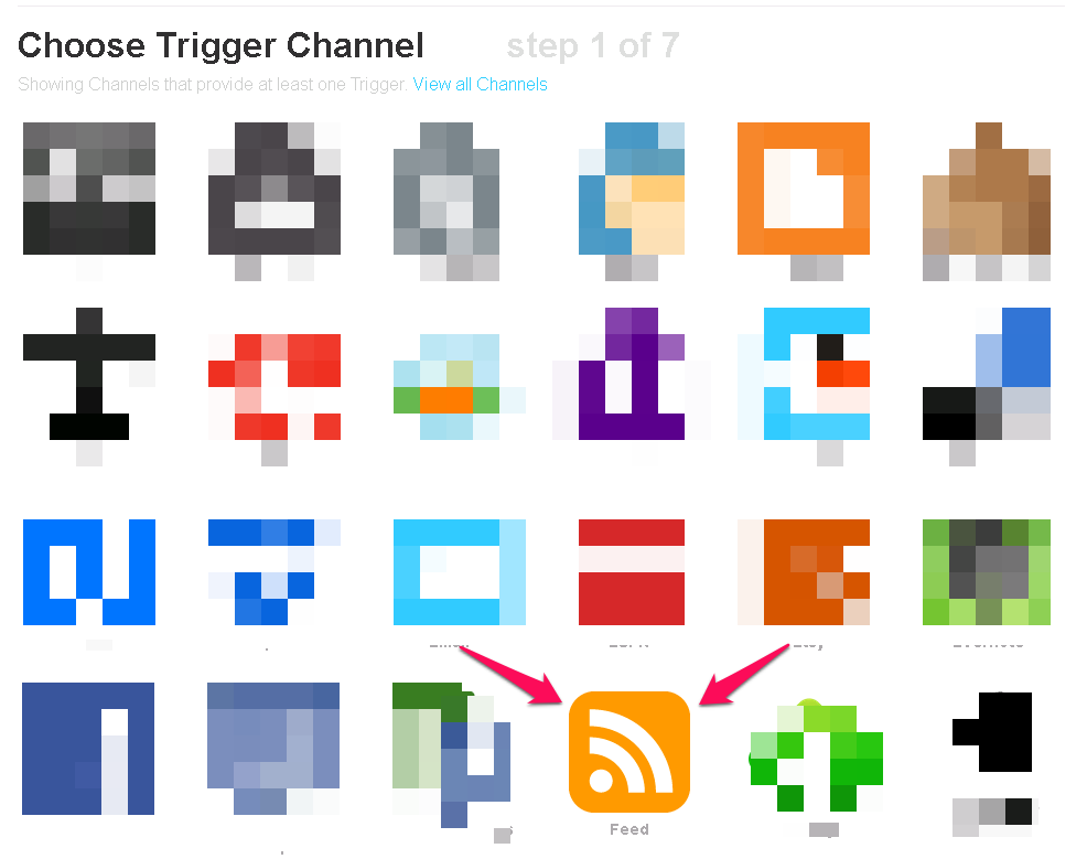 Choose Feed as Trigger in IFTTT