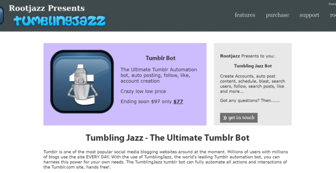 rootjazz tumblingjazz website